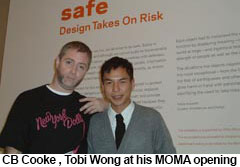 Tobias Wong and CB Cooke 2005 at MOMA by CB Cooke
